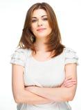 Portrait habillé de femme de style occasionnel Image libre de droits