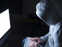 Portrait of hacker Royalty Free Stock Image