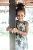 Portrait of half-caste children in park Royalty Free Stock Image
