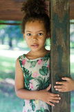 Portrait of half-caste children in park. Portrait of a beautiful half-caste children in park Royalty Free Stock Photography