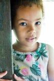 Portrait of half-caste children in park Royalty Free Stock Images