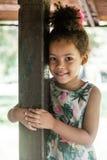 Portrait of half-caste children in park Stock Photography