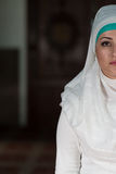 Portrait Half Of Face Of Young Muslim Woman Royalty Free Stock Image