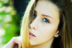 Portrait half left of girl Stock Photography