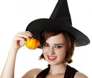 Portrait of a halloween witch Stock Photos