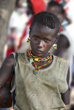 Portrait of the Hamar woman. Stock Photo