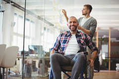 Portrait of handicap businessman in creative office Stock Photo