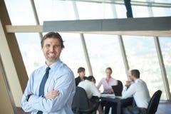 Portrait of handosme business man Stock Photography