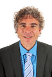 Portrait handsome adult man. With curly hair and formal suit Royalty Free Stock Photo