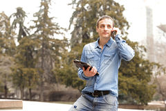 Portrait of a handsome adult man. In casual clothes Stock Image