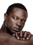 Handsome African American Man Looking Away Royalty Free Stock Photo