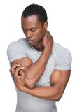 African American Man in Sensual Pose Royalty Free Stock Photography