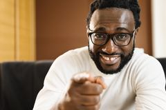 Portrait of Handsome african man. royalty free stock photos