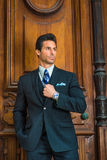 Portrait of Handsome American Middle Age Businessman in New York Royalty Free Stock Photography