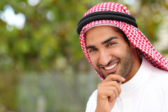 Portrait of a handsome arab saudi emirates man Stock Images