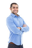 Portrait of handsome arabic business man isolated on white. Background Royalty Free Stock Images