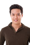 Portrait of handsome asian man on white isolated background Royalty Free Stock Photos