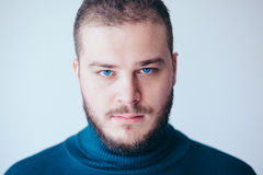 Portrait of a handsome bearded young man Stock Images