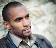 Portrait of handsome black man Royalty Free Stock Images