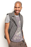 Portrait of a handsome black man smiling Stock Photos