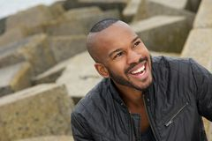 Portrait of a handsome black man smiling Stock Photography