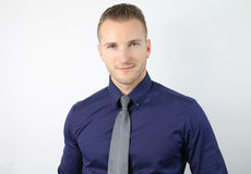 Portrait of an handsome blond guy Stock Images