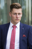 Portrait of handsome blond man in suit Royalty Free Stock Photo
