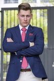 Portrait of handsome blond man in suit Royalty Free Stock Image