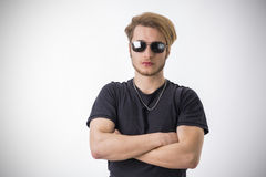 Portrait of handsome blond young man Stock Photo
