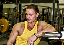 Portrait of handsome bodybuilder Royalty Free Stock Image
