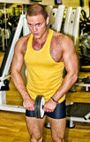 Portrait of handsome bodybuilder Stock Images