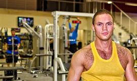 Portrait of handsome bodybuilder Stock Images