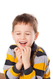Portrait of  handsome boy Stock Images