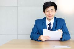 Portrait handsome business man. Attractive handsome young guy ge royalty free stock photography