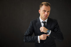 Portrait of handsome business man Royalty Free Stock Photography