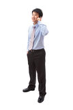 Portrait of handsome business man speaking phone Stock Photo