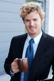 Portrait of a handsome businessman Stock Image