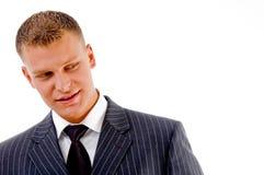 Portrait of handsome businessman Stock Photos