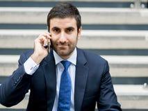 Portrait of handsome businessman outdoor Stock Images