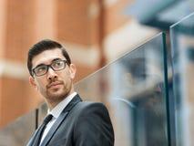 Portrait of handsome businessman outdoor Stock Image