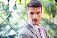 Portrait of a handsome businessman outdoors Stock Photos