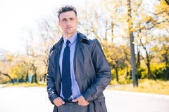 Portrait of a handsome businessman outdoors Stock Photography