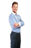 Portrait of a handsome casual businessman smiling Stock Photography