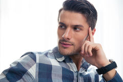 Portrait of a handsome casual man looking away Royalty Free Stock Photography