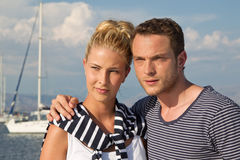 Portrait of handsome caucasian couple on their holiday. Stock Photography