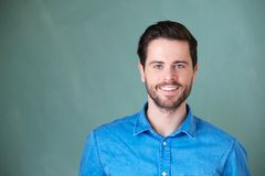 Portrait of a handsome caucasian man smiling Royalty Free Stock Image