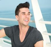 Portrait of a handsome caucasian man smiling outdoors Stock Photography