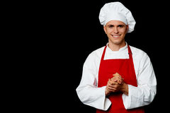 Portrait of a handsome chef Royalty Free Stock Images