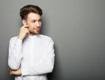 Portrait of an handsome confident business man Royalty Free Stock Photo