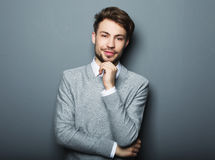 Portrait of an handsome confident business man Royalty Free Stock Image